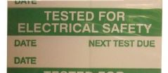 PRO POWER 7827351  Label Tested Elec Safety,Card Of 14
